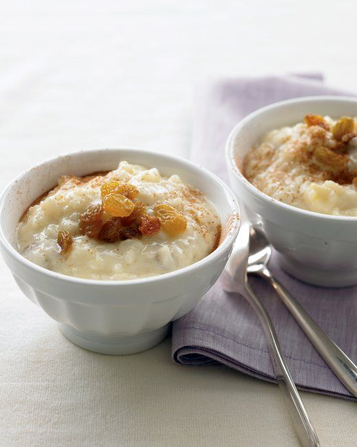 Lightened Rice Pudding  Martha Stewart Lighter Comfort Foods