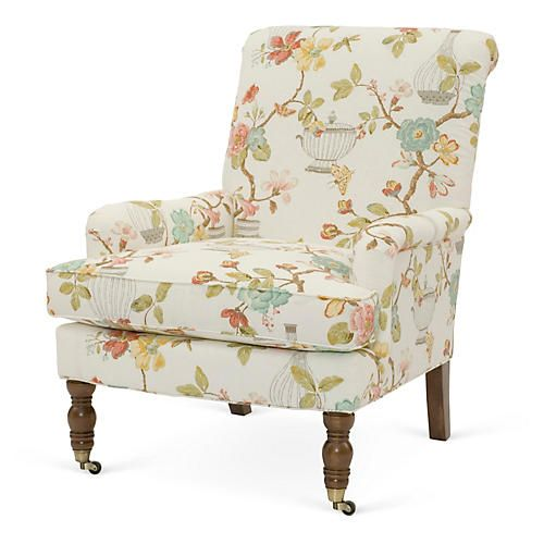 Abigail Chair, Cream Floral