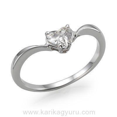 Klasszikus egy köves eljegyzési gyűrű 0,30ct-0,40ct gyémánttal