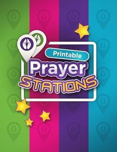 Printable Prayer Stations- Great for Youth Ministries, Sunday School, Outreach, and Home! Teach Kids How to Pray in a Fun Way!