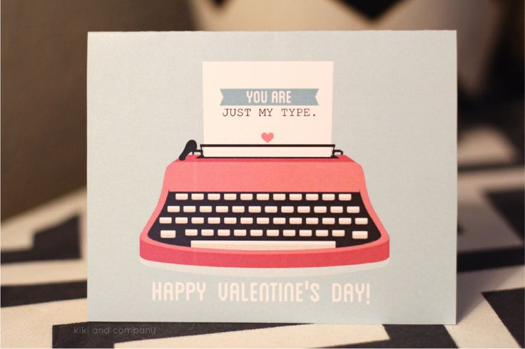you are just my type valentine's day card at kiki and company