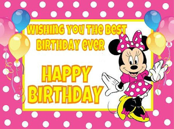 Minnie Mouse Happy Birthday Quote