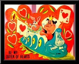 """Disney Valentine Card """"Be My Queen of Hearts"""""""