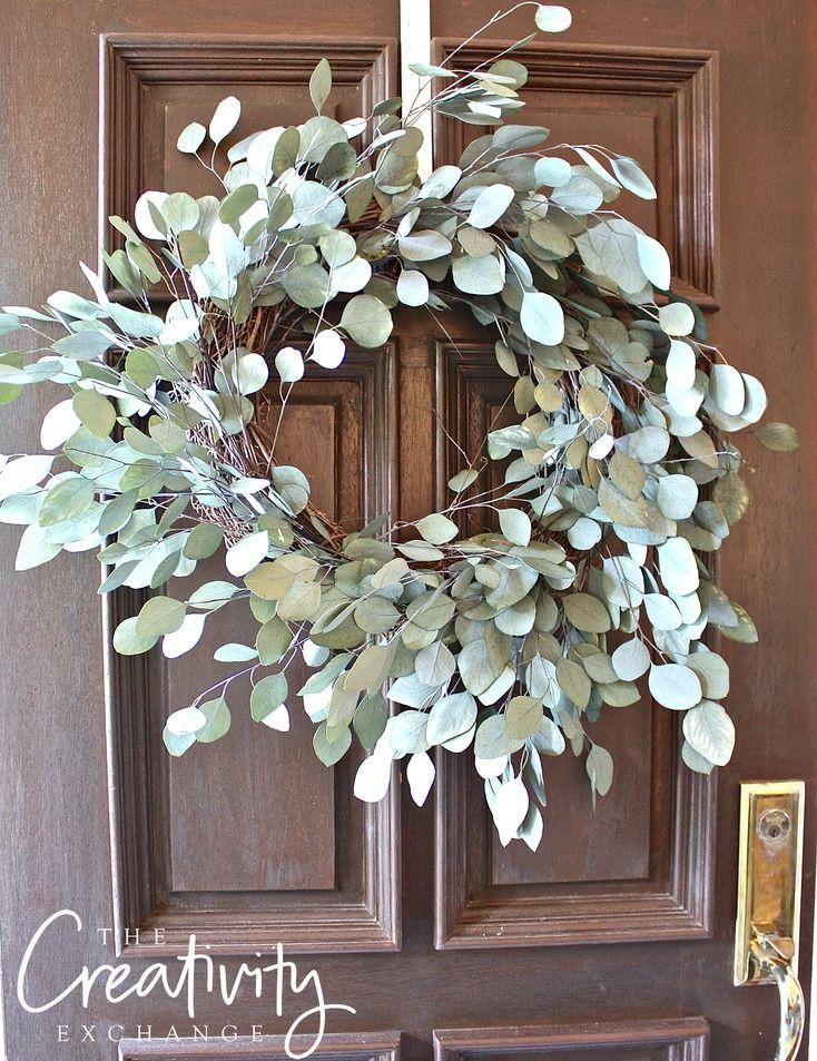 Tutorial for how to make a dried eucalyptus wreath.