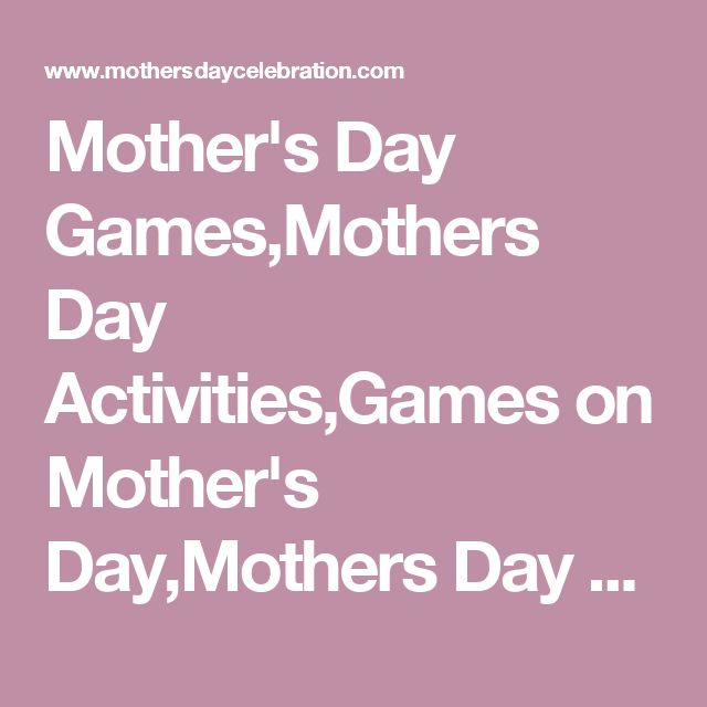 Mother's Day Games,Mothers Day Activities,Games on Mother's Day,Mothers Day Game
