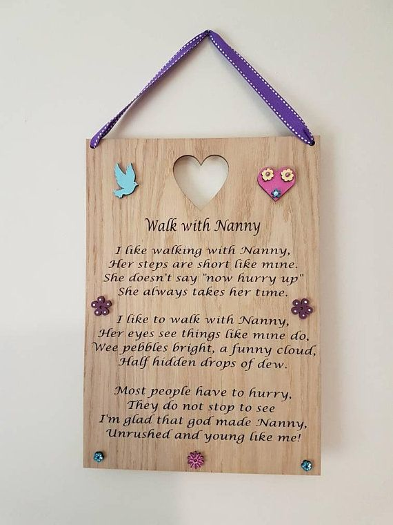 GRANDPARENTS Personalised Wooden Plaque Gift...Lovely leaving present
