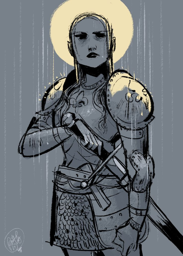 Joan of Arc for yesterday's Sketch Dailies (@Sketch_Dailies) on twitter