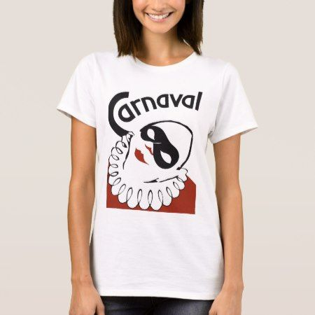 Retro Carnaval carnival clown T-Shirt - tap, personalize, buy right now!
