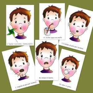 ¿Qué son las praxias? Fichas para hacer ejercicios de praxias faciales