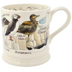 1 pt Mug Seabirds - Nieuw! - Pine-apple - Importeur Emma Bridgewater