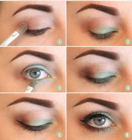 Легкий макияж для серых глаз