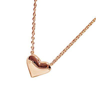 Paprika zoete gouden perzik hart ketting sleutelbeen ketting N496 – EUR € 0.91