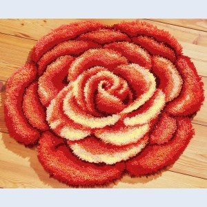 Rose Latch Hook Rug