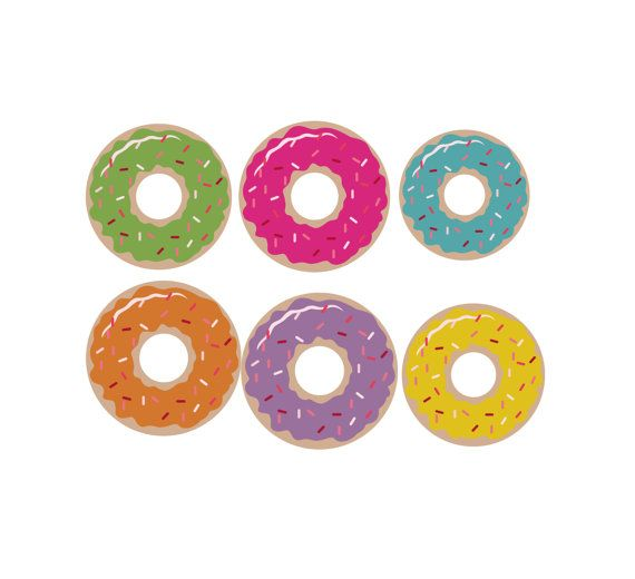 Digital Clip Art Donut Clipart Bakery Clip Art by ChangingVases, $1.50