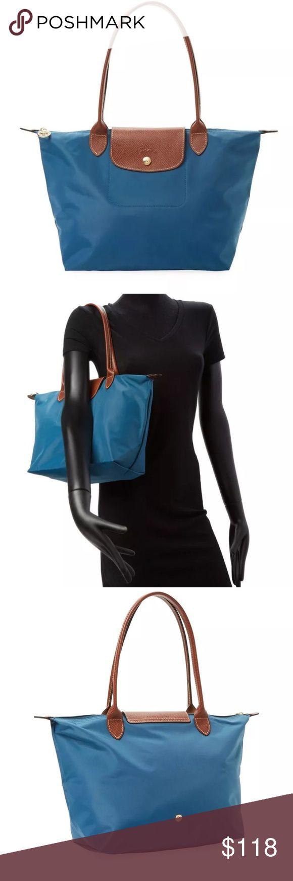 Longchamp le pilage nylon medium tote Longchamp nylon medium tote in peacock. Famous bag carried by Kate Middleton! Longchamp Bags Totes