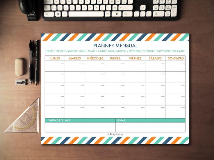 """Tener un buen planner mensual A3 en el escritorio es fundamental para tenerlo todo bajo control. Ya sea para organizar tu estudio, la vida familiar, el trabajo .... la planificación hará maravillas con tu vida.  Os dejamos una frase de William Penn: """"El tiempo es lo que más queremos, pero lo que peor usamos.""""  #A3 #Mensual #Missplan"""