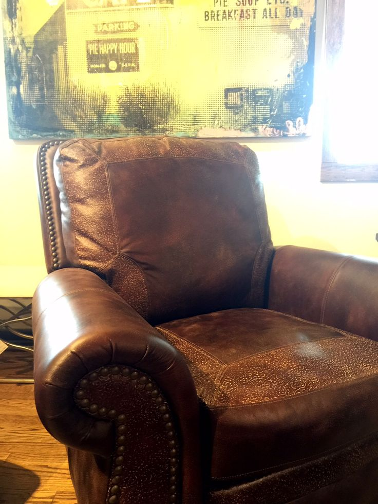 Sink Into This Aspen Recliner Chair With Antique Brass Nailhead Trim  Replicating Craftsmanship Found In Timeless