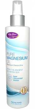 Pure Magnesium Oil by Life-flo (Topical Magnesium Spray). Cherish Your Skin with 100% Pure Magnesium. Easily tolerated, convenient, and non-greasy. Highly concentrated source of Magnesium Chloride. Mined from the Ancient Zechstein Sea. Available at ProHealth.com ($8.49) #ProHealth