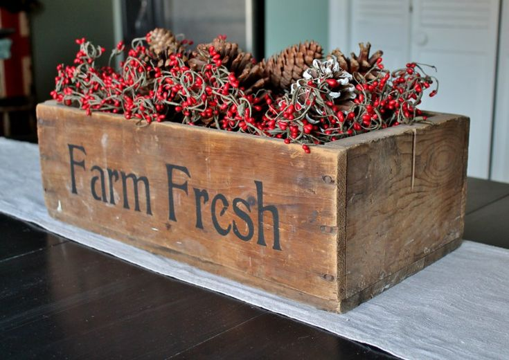 Vintage Farm Fresh Wooden Crate