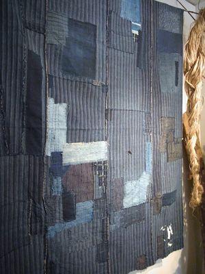 repaired boro futonji (quilt or mattress cover)