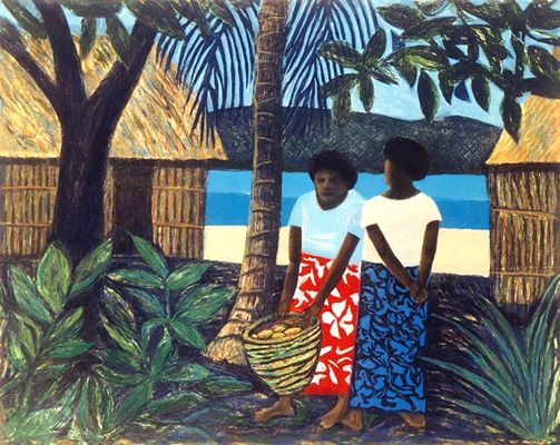 paintings of fiji by Ray Crook