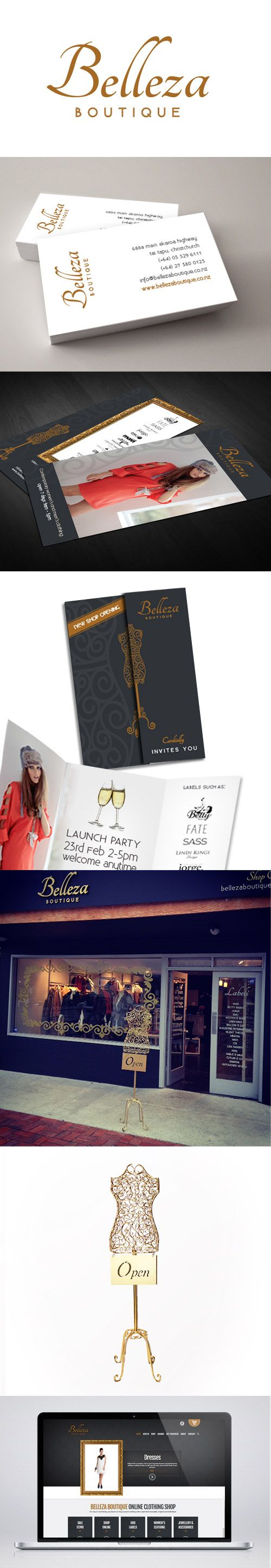Belleza Boutique branding, signage and website design