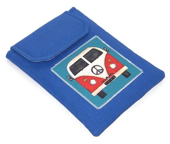 """Nexus 7, Kindle Keyboard, Galaxy Tab2 7"""" Cover VW Camper Van Blue"""
