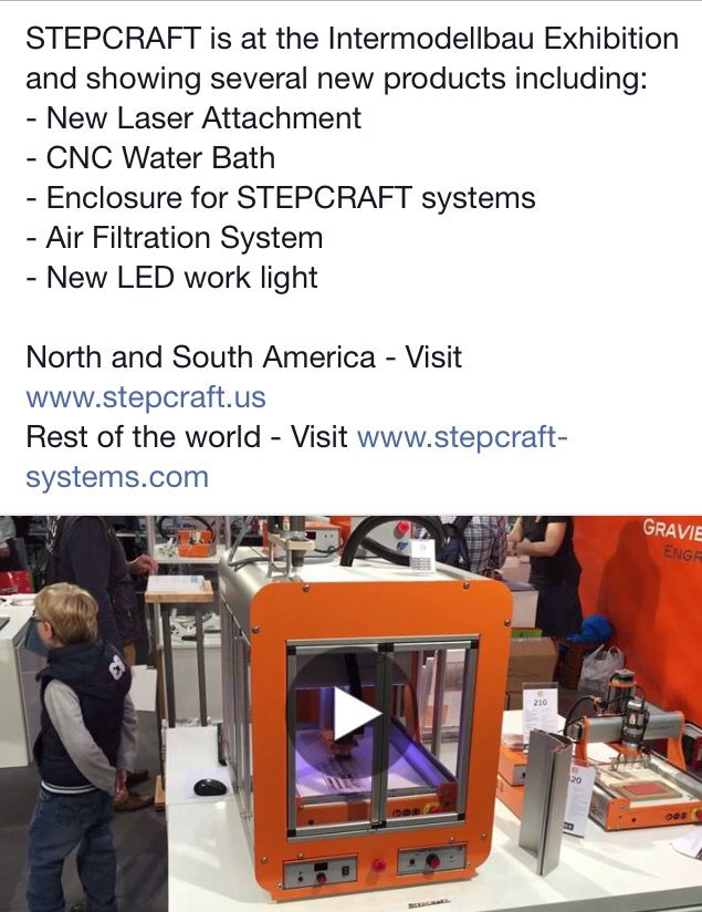 The update you've been waiting for… New products by #STEPCRAFT Watch on #YouTube: youtu.be/0u_FBiQrO3c