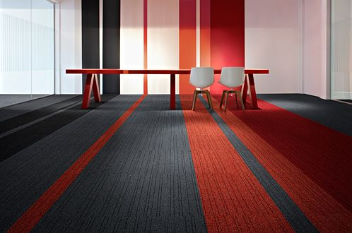 commercial carpet tiles. This is a fun idea.