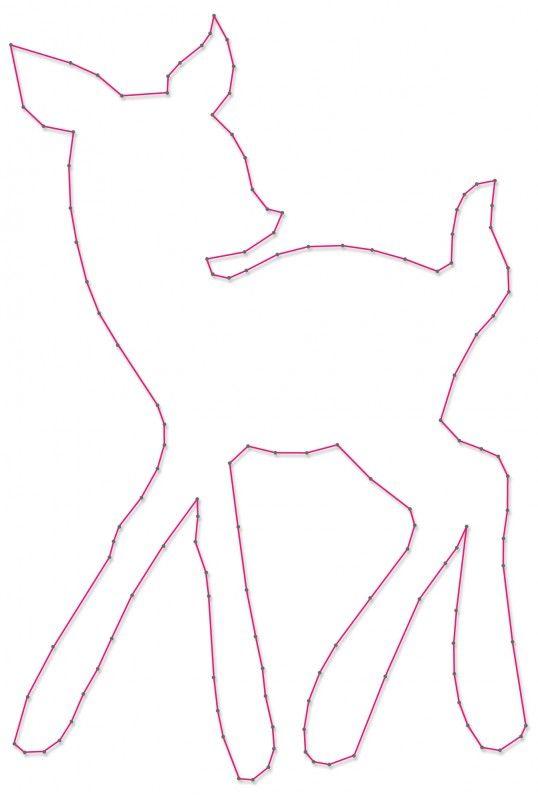 Hertje | Spijkerafbeeldingen | spijkerpatroon