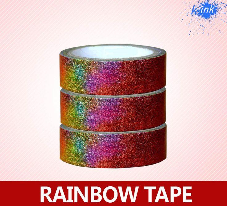 Смешанный цвет радуги васи бумажная лента, клей маскировки смешанный цвет ленты для скрапбукинга, DIY, украшение дома