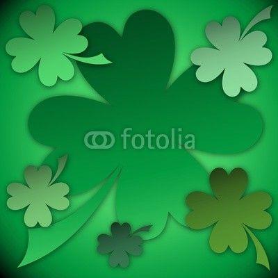 New #Vector #Design on #Fotolia ♣ St #Patrick #Green #Shamrocks #Background  http://it.fotolia.com/id/61573583