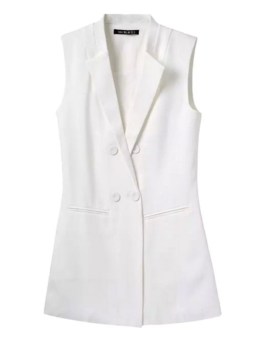 Wholesale Fashion simple solid double breasted vest CY-E401C10 - Lovely Fashion