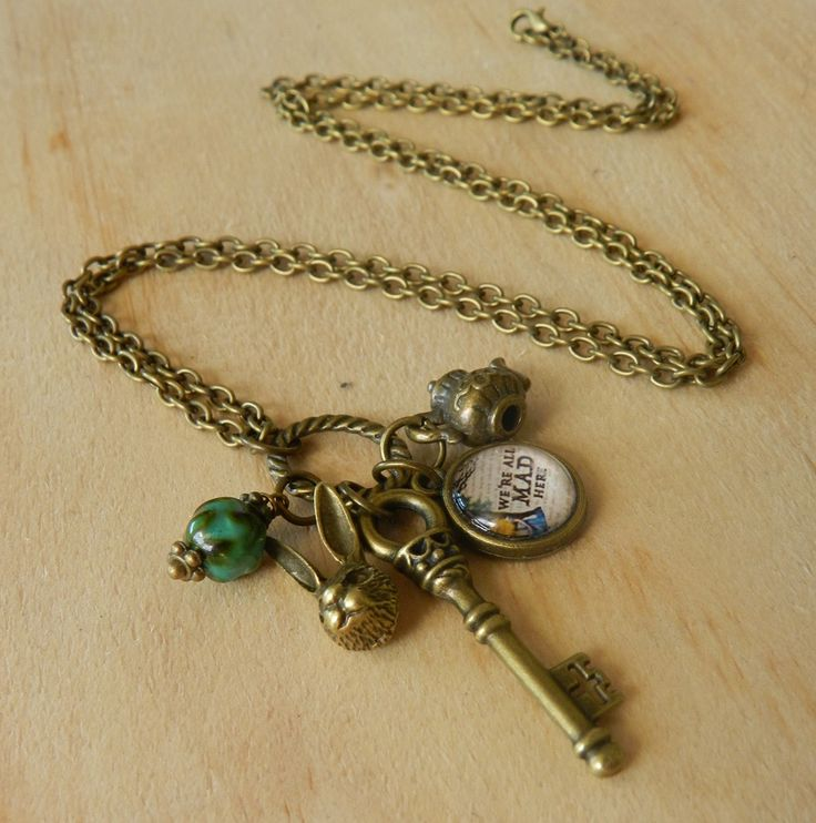 Image of Alice In Wonderland Inspired Charm Necklace