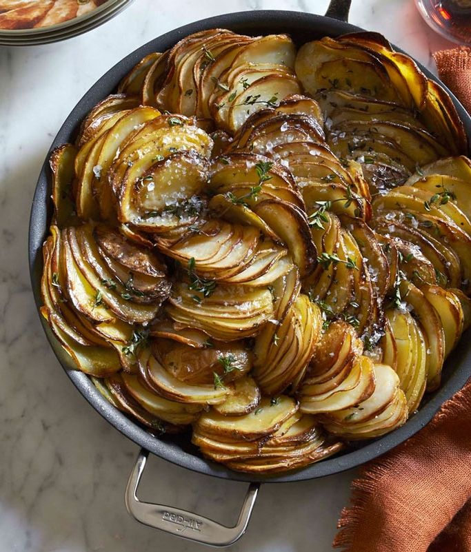 Crispy Roasted Potatoes with Thyme