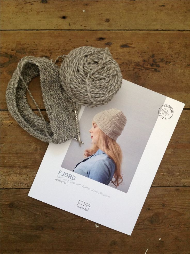 We just love Lynne's Fjord hat in Brooklyn Tweed Shelter Marls. Colourway Narwhal.
