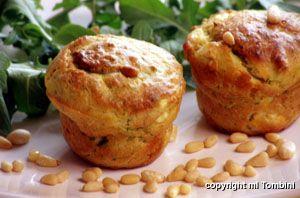 Photo de la recette : Muffins au chèvre et à la courgette