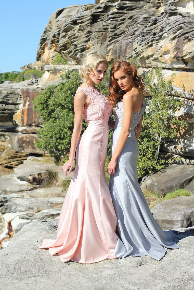Like pretty mermaids our Styla & Co. APHRODITE & ATHENA Lace & Taffeta Bridesmaid Gowns float on top of Sydney Bondi Beach. http://www.stylaandco.com.au/bridesmaid-dresses/