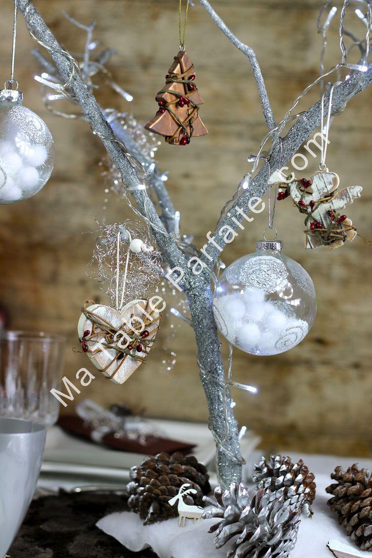 17 best ideas about deco de table noel on pinterest for Deco arbre de noel