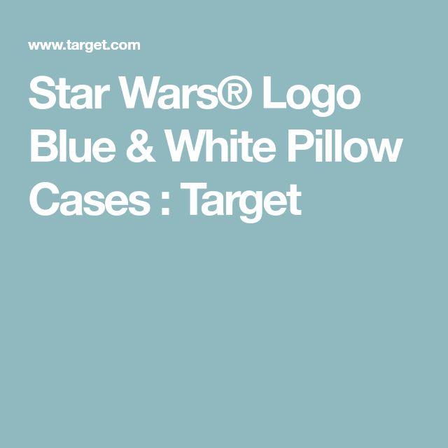 Star Wars® Logo Blue & White Pillow Cases : Target