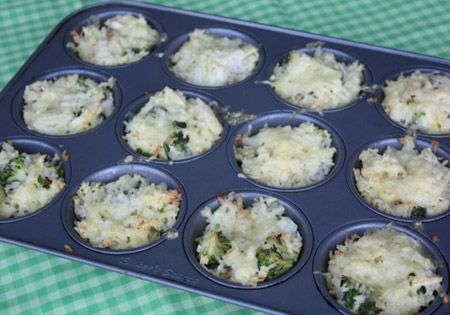 Chicken and Broccoli Rice Cups
