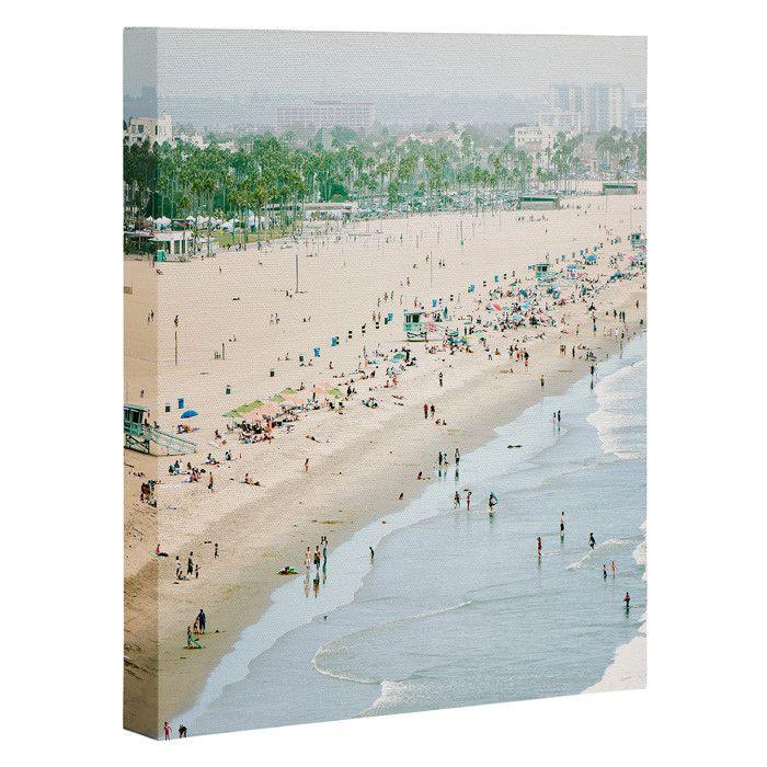 Bree Madden Santa Monica Beach Art Canvas   DENY Designs Home Accessories