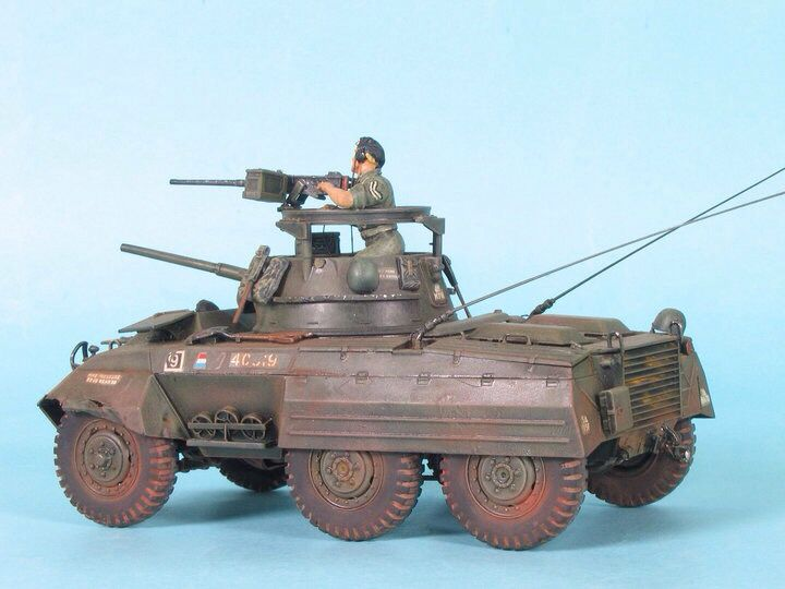 M-8 Greyhound, Dutch KNIL in Indonesia 1949 during 2nd during policional action, 1/35 scale by ademodelart