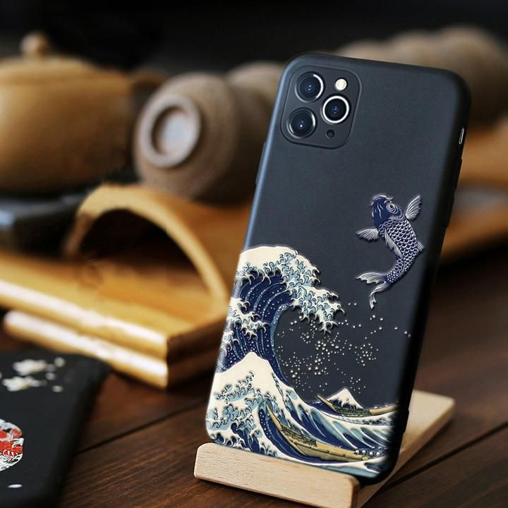 Japanese Styled Iphone Cases Lyfea Iphone Waves Phone Case 3d Phone Cases