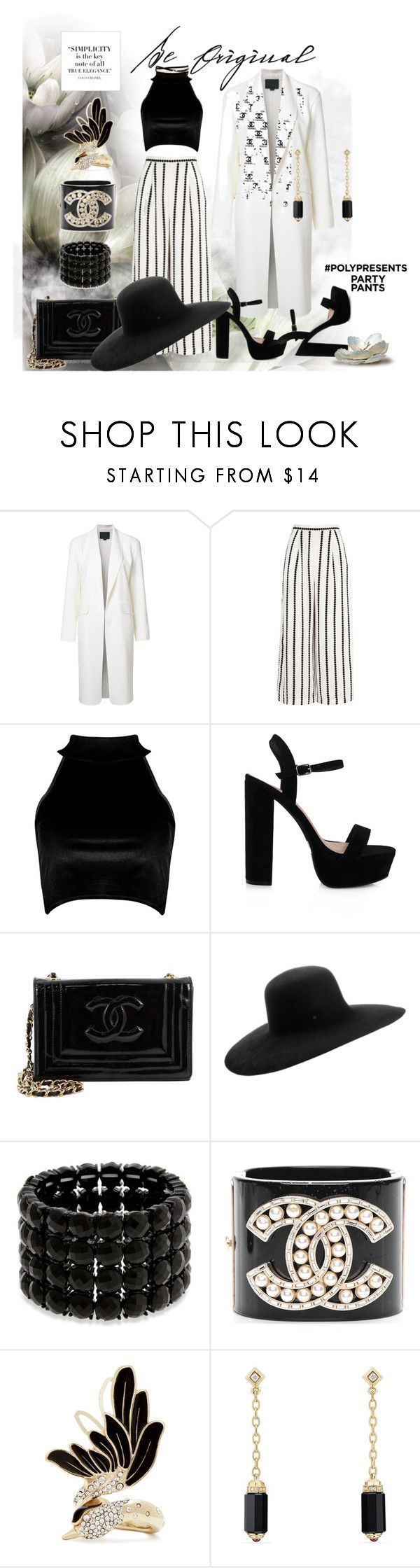 """""""#PolyPresents: Fancy Pants"""" by irene-sousa2 ❤ liked on Polyvore featuring Alexander Wang, Finders Keepers, Boohoo, Chanel, Maison Michel, Erica Lyons, Lanvin, David Yurman, Kenneth Jay Lane and contestentry"""