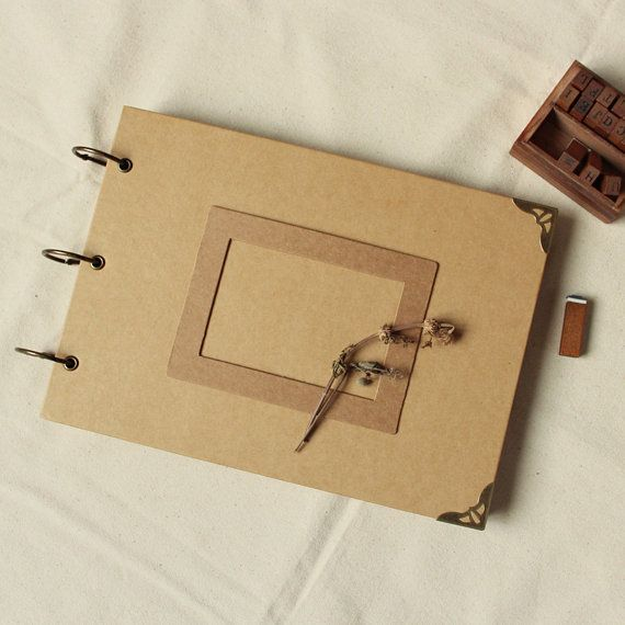 A4 álbum de boda de anillas 56 páginas / libro de por PapergeekCo