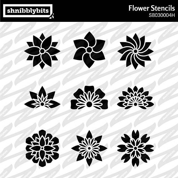 9 Flower Cutouts This design is also available in a bundle deal here: https://www.etsy.com/listing/584717261/ PLEASE NOTE: This item is a digital package for use with a die-cut machine. No physical items will be sent to you. You will receive: One zip file containing this design in the