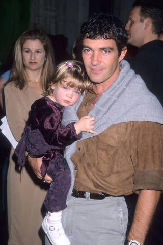 Antonio Bandera and his daughter