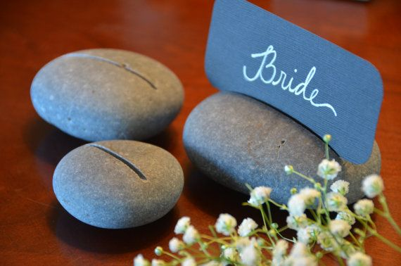 Wedding+River+Stone+Escort+Table+Place+Card+by+EvergreenArt,+$6.00