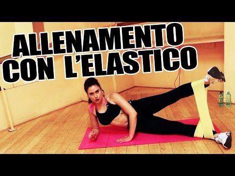 Allenamento con Elastico - Esercizi per gambe, braccia per tonificare e dimagrire - Lezione Completa - YouTube